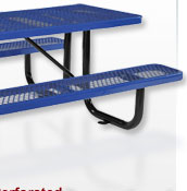 Tables de pique-nique Premium All Steel Metal Mesh