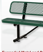 Premium All Steel Metal Mesh Benches