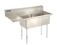 Freestanding 2-Basin Sink