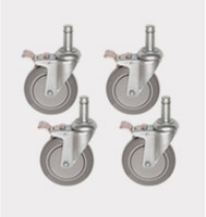Swivel Stem Casters for Wire Shelving