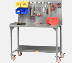 Mobile Workbench with Panel Risers