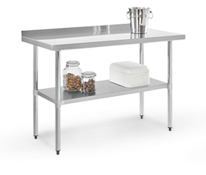 Stainless Steel Workbenches - 2 to 2-3/4 Inch Backsplash