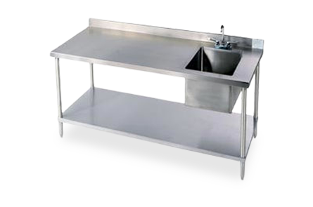Stainless Steel Workbenches with Sink
