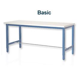 """""""L X 60» 30 W Production banc - bord plastique carré bleu"""