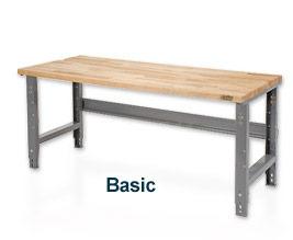 60 x 30 Maple Square Edge travail Bench - réglable en hauteur