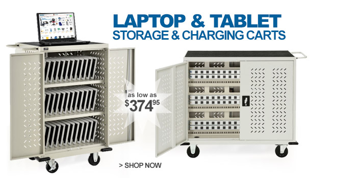 Laptop & Tablet Storage and Charging Carts - as low as $374.95