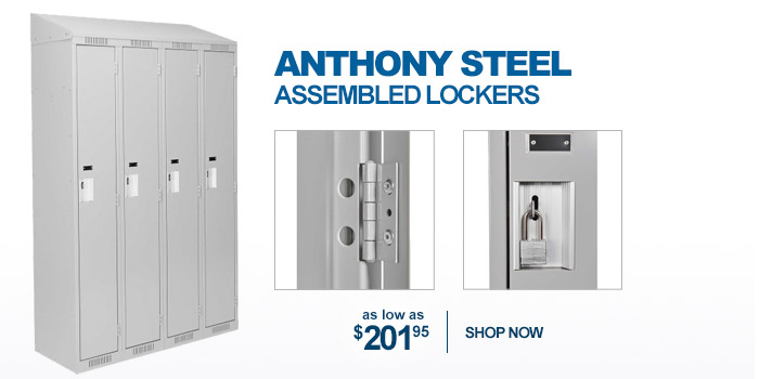 Anthony Steel Assembled Lockers - as low as $201.95
