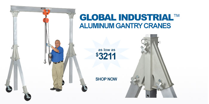 Adjustable Height Aluminum Gantry Cranes - as low as $3211