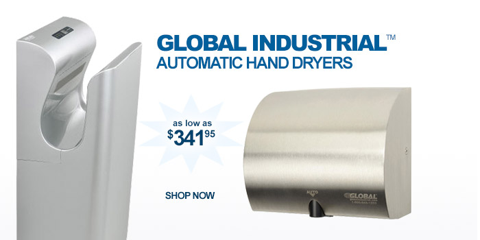Global Industrial™ High Velocity Hand Dryers - as low as $341.95