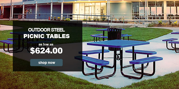 Outdoor Steel Picnic Tables