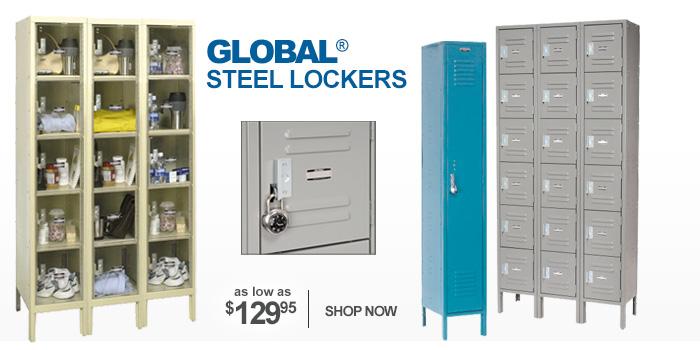 Global® Steel Lockers - as low as $129.95