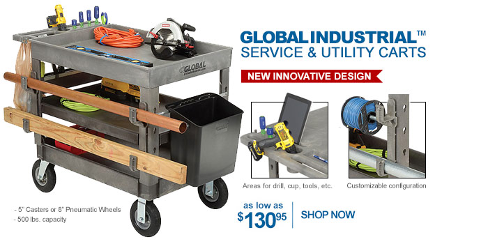 Global Industrial Service & Utility Carts - as low as $130.95