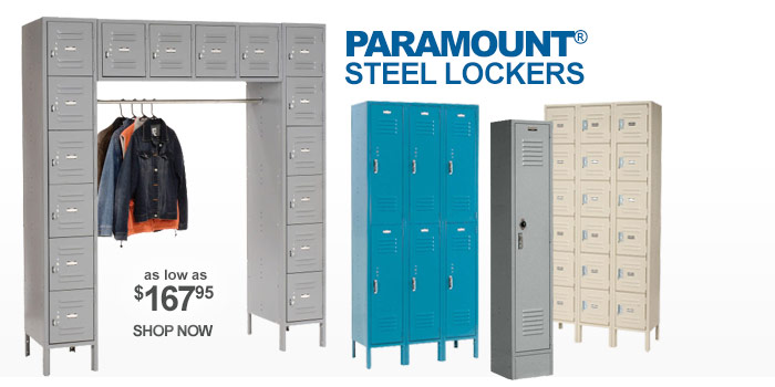 Paramount® Steel Lockers - Assembled - as low as $167.95