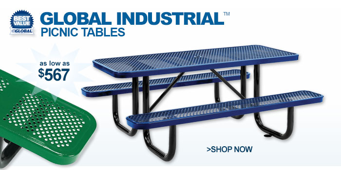 Global Industrial™ Picnic Tables - as low as $567