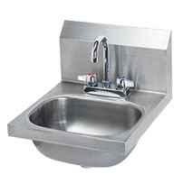 Krowne Wide Hand Sink with Deck Mount Faucet