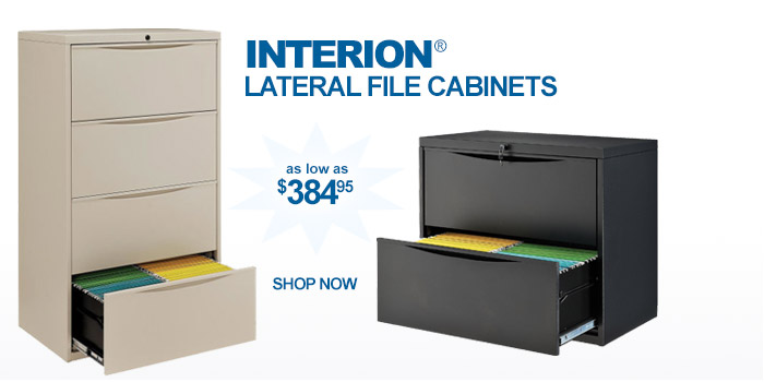 Interion® File Cabinets - as low as $384.95
