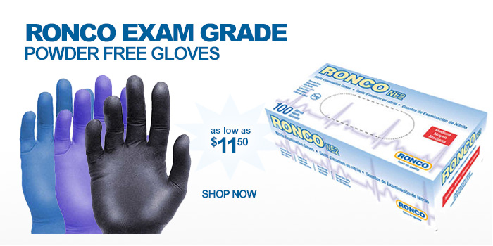 Ronco Exam Grade Powder Free Gloves - as low as $11.50