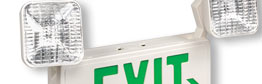 Combination Emergency Exit Signs & Lighting
