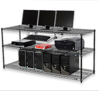 Wire Shelving Computer LAN Workstation