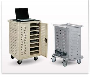 Carts_cabinets de chargement d'ordinateur portable