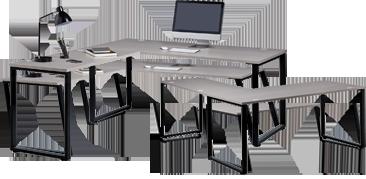 Système de bureau à plan ouvert
