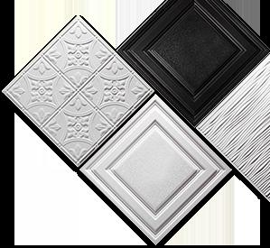 Dalles de plafond PVC