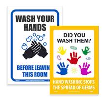 Signes de lavage des mains
