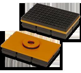 Coussinets isolants de vibration