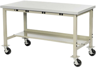 Mobile Heavy Duty Tubular Leg Production Workbenches avec tablier de puissance