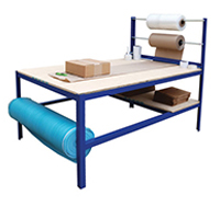 Multi purpose packaging work bench