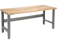 Workbench with C-Channel Adjustable Height Legs